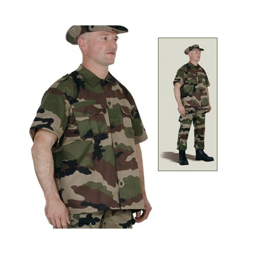 Chemise militaire manche courtes outre-mer