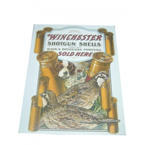 "Plaque métal ""Winchester"""