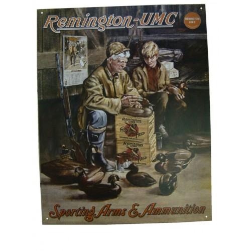 "Plaque métal ""Remington-UMC"""