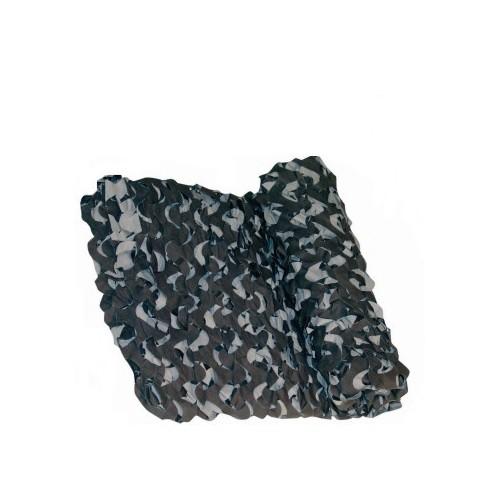 Filet de camouflage noir/gris 2.4x3m