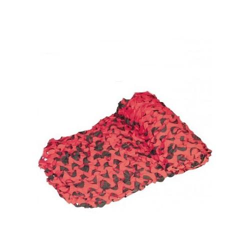 Filet de camouflage gris-rouge 2.40x3m