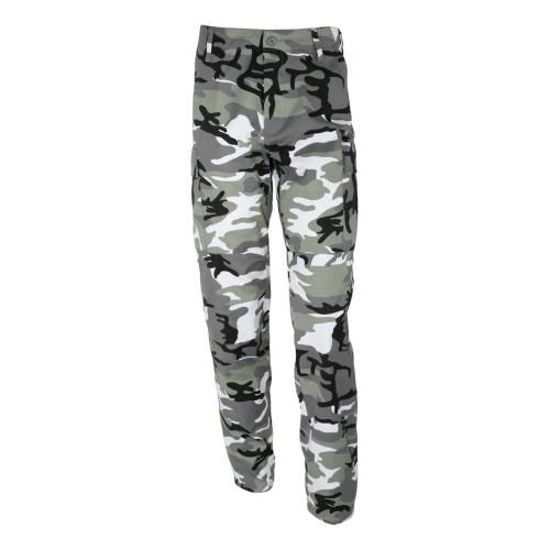 Pantalon treillis BDU camouflage urbain gris