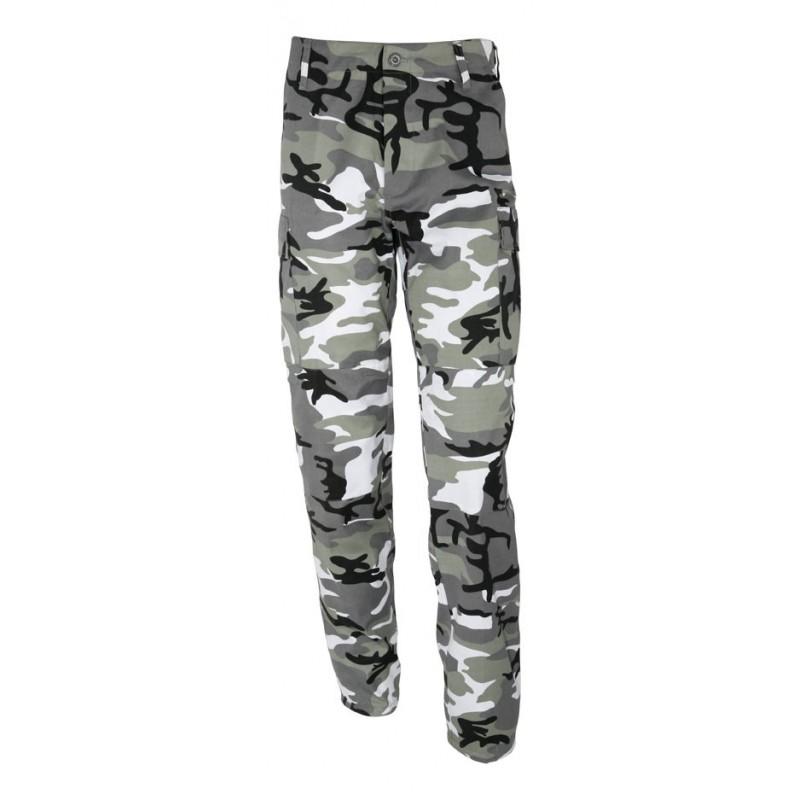 Pantalon BDU type US camouflage urbain gris