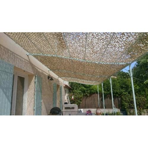 Filet de camouflage sable 3 x 6 m