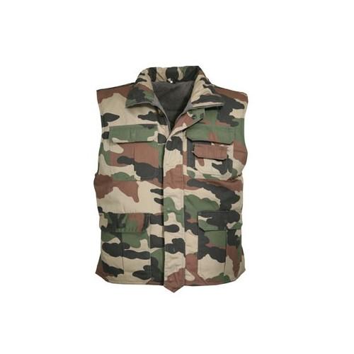 Gilet matelassé camouflage