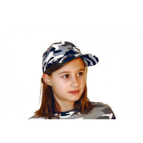 Casquette enfant camouflage Urbain-Gris