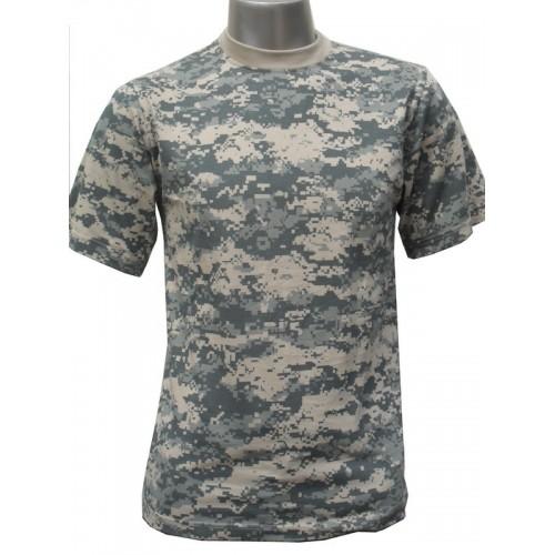 Tee shirt camouflage ACU digital bleu