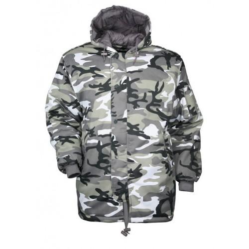 Parka militaire dubon camouflage urbain gris