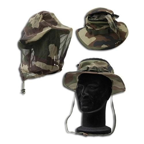 Chapeau de jungle moustiquaire