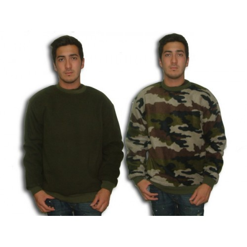 Pull militaire polaire reversible