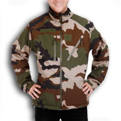 Veste Softshell  Elite Ares camouflage centre europe