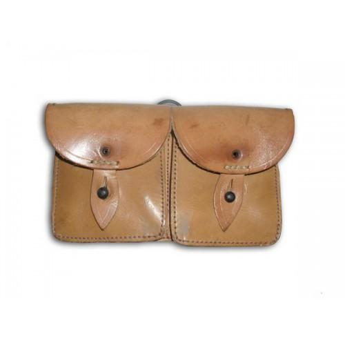 Porte Chargeur cuir double