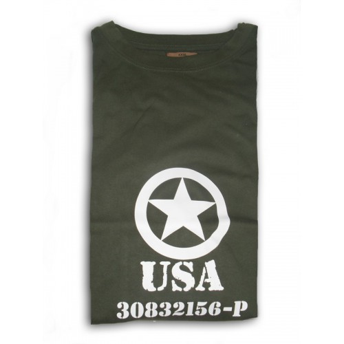 Tee shirt USA kaki