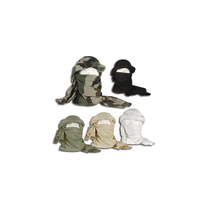 Chèche militaire en coton, kaki camouflage sable noir ou blanc 450ca97296f