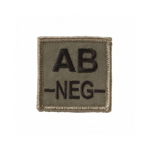 Ecusson groupe sanguin velcro AB-