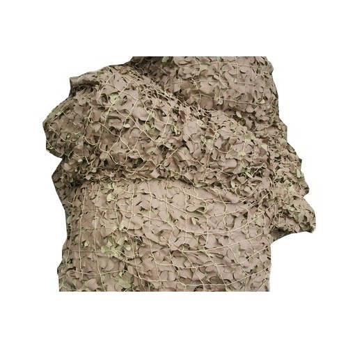 Filet de camouflage militaire Sable 7.50m x 3.85m