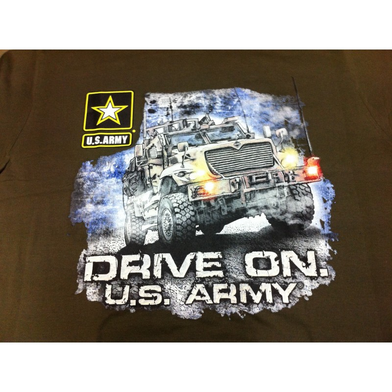 T-shirt DRIVE ON US ARMY