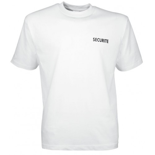 Tee shirt SECURITE blanc