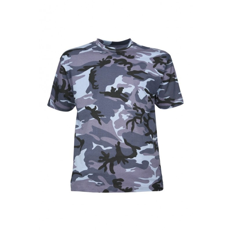 df0d576855a05 T-shirt militaire camouflage urbain bleu - Surplus Le Casque Bleu