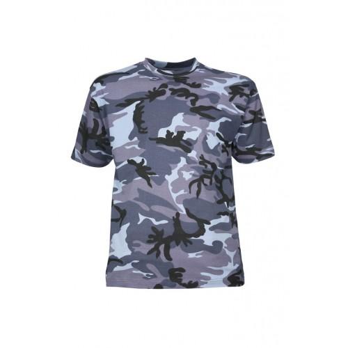 T-shirt camouflage urbain bleu