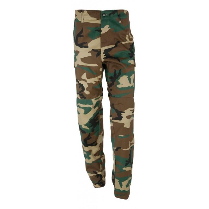 213f614c60911 Pantalon treillis militaire type us bdu camouflage woodland - Surplus Le  Casque Bleu