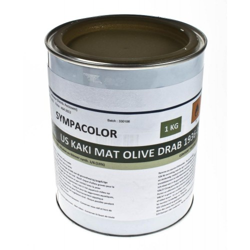 Pot de peinture 1kg US KAKI MAT OLIVE DRAB 1936-1944