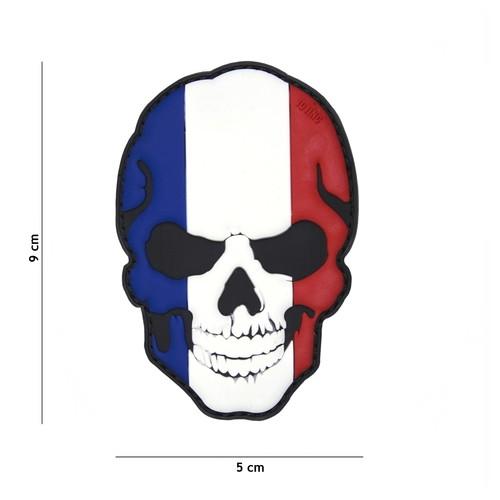 Ecusson Patch 3D PVC skull France