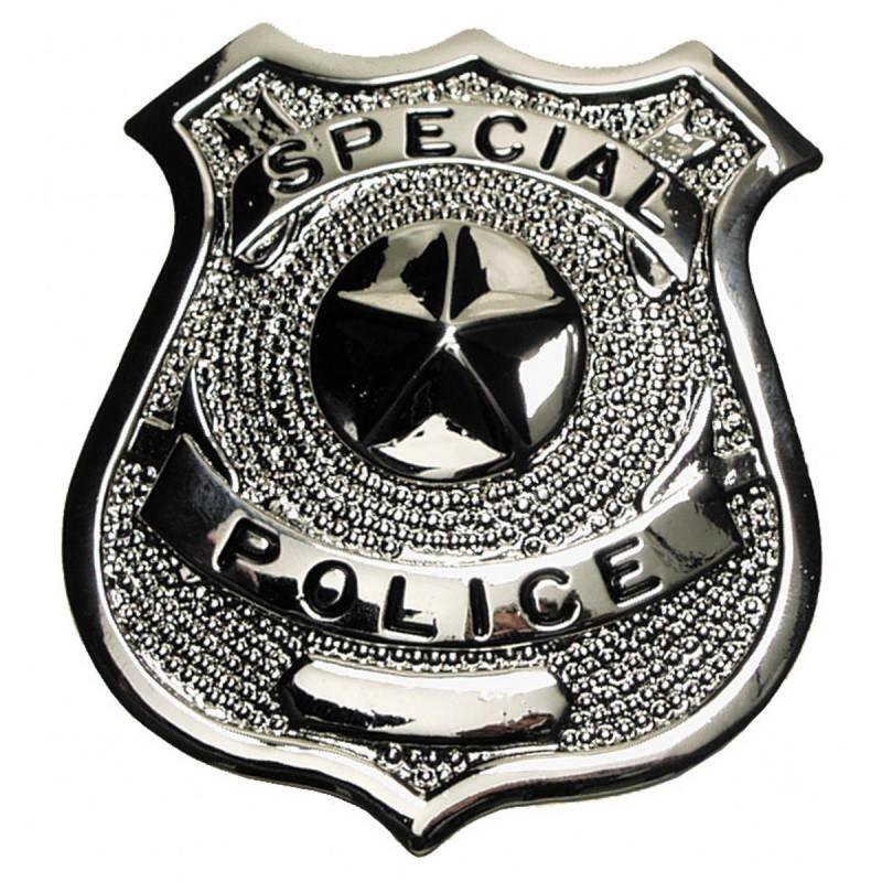 """Insigne de police US, """"Special Police"""", argent, épinglette"""
