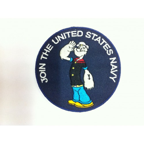 """Ecusson POPEYE """"JOIN THE UNITED STATES NAVY"""""""