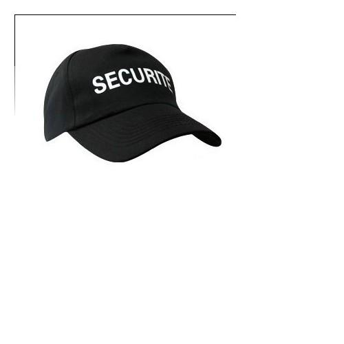 Casquette noire SECURITE