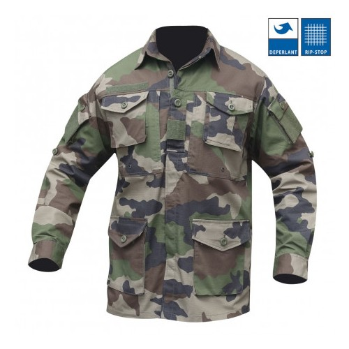 Chemise guerilla camouflage
