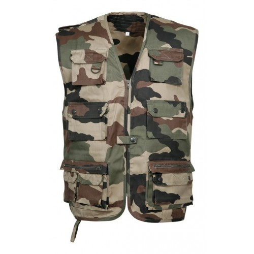 Gilet reporter camouflage centre europe