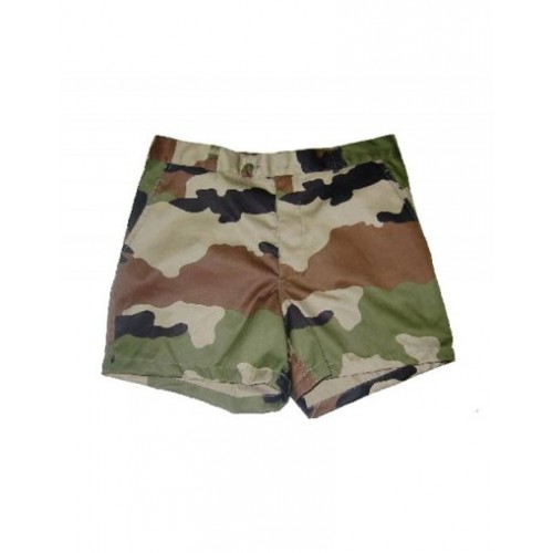 Short camouflage militaire