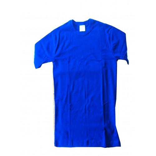 Tee shirt coton bleu marine