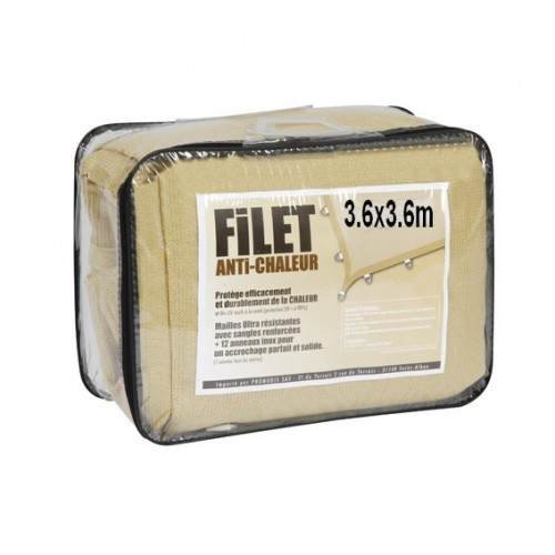 Filet anti chaleur sable 3.6x3.6m
