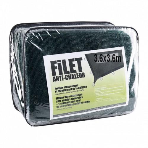 Filet anti chaleur kaki 3.6x3.6m