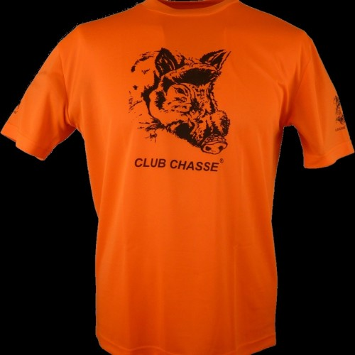 T-SHIRT CLUB CHASSE ORANGE