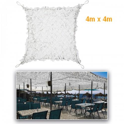 FILET BLANC/GRIS POUR PERGOLA RENFORCE 4m X 4m