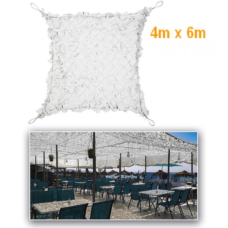 FILET BLANC/GRIS POUR PERGOLA RENFORCE 4m X 6m