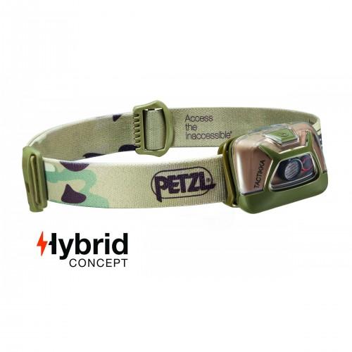 Lampe frontale Hybrid éclairage 2 couleurs Tactikka camouflage - 200 Lumens