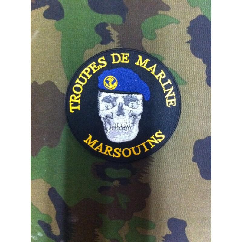 """Ecusson TROUPES DE MARINE """"MARSOUINS"""""""