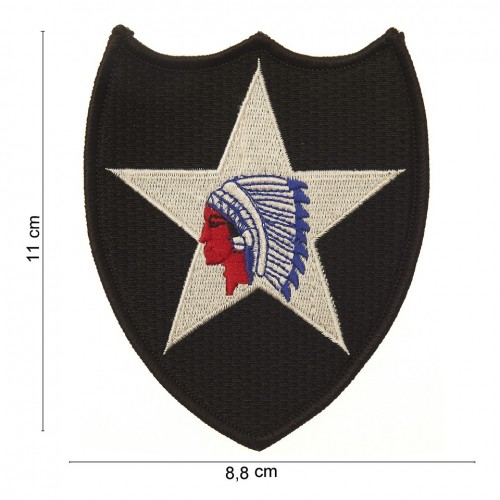 "Ecusson ""2nd infantry division indian head"""