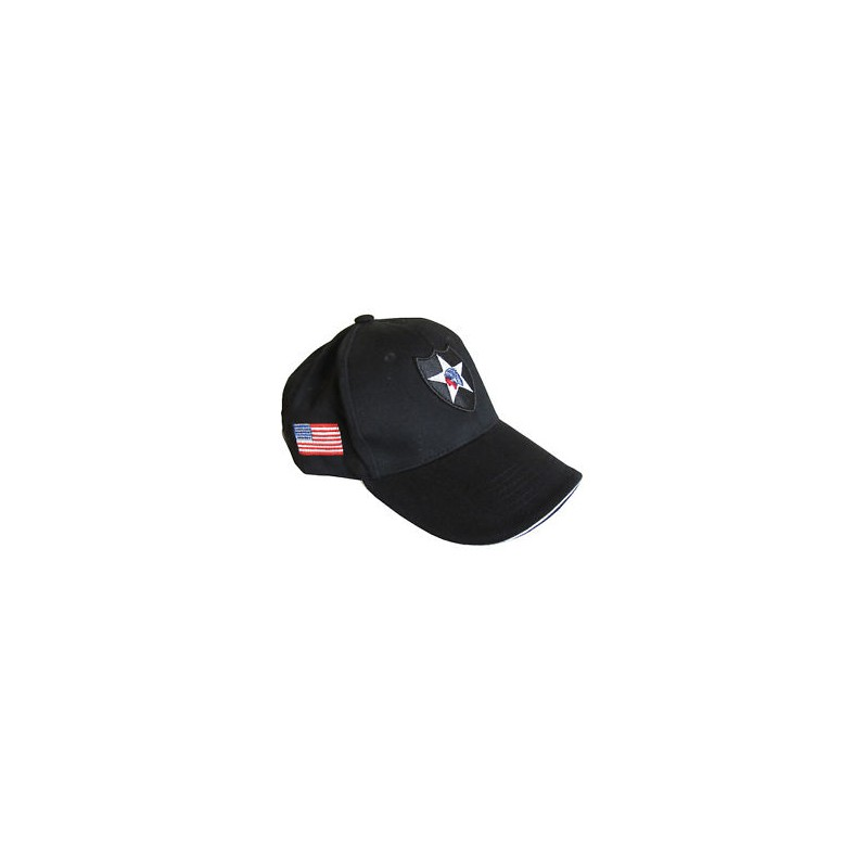 Casquette Baseball 2nd Infantery noir