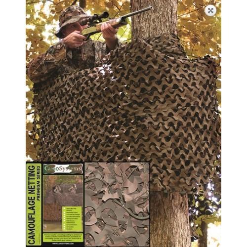 Filet de camouflage renforcé VERT/MARRON 3x 6 m