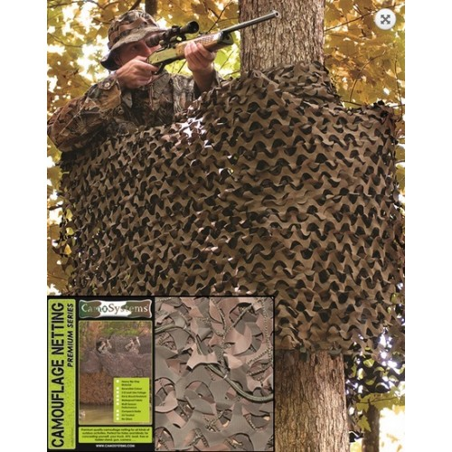 Filet de camouflage renforcé VERT/MARRON 3x 6 m