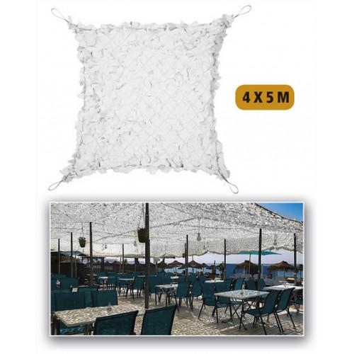 FILET BLANC/GRIS POUR PERGOLA RENFORCE 4m X 5m