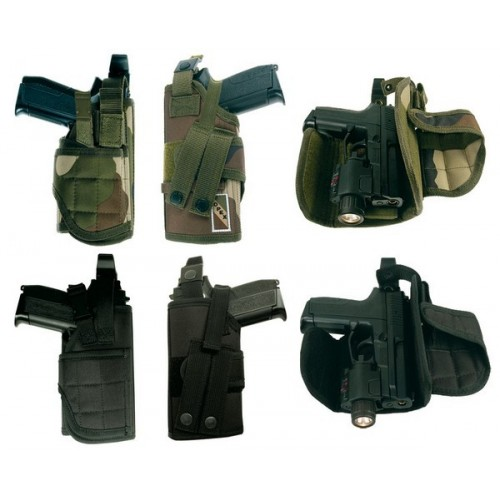 Holster attaches molles