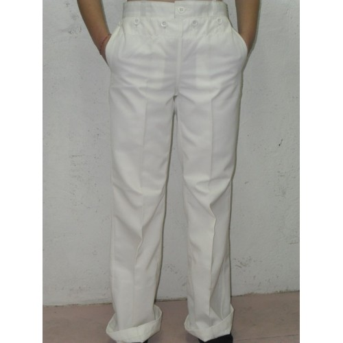 Pantalon blanc à pont marine