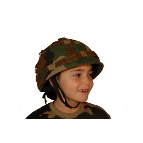 Casque enfant camouflage type US
