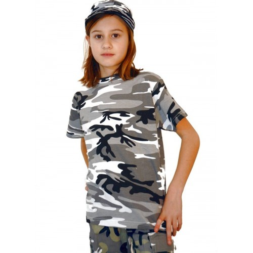 T-shirt enfant camouflage